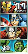 AVENGERS ASSEMBLE 11 TODAY ! 11TH BIRTHDAY CARD NEW GIFT MARVEL