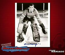 CESARE MANIAGO Signed Montreal Canadiens 8X10 Photo - 70212