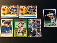 2019 Topps Bowman Brandon Lowe RC Rookie Card Lot (6 Card Lot) Tampa Bay Rays