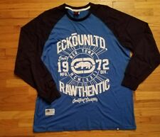 ECKO Unlimited Long Sleeve Big and Tall Black and BLue Size 2XB