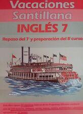 Antiguo Vacaciones Santillana Inglés 7°EGB (Año 1989 / Nuevo)