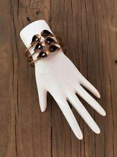 Vintage RENOIR  Cuff Bracelet Solid Copper MODERNIST Hinged MCM Brutalist