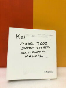Keithley 7002-901-01 Model 7002 Switch System Instruction Manual