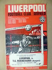 Inter Cities Fairs Cup 3rd RD 2nd Leg LIVERPOOL v FERENCVAROS (HUNGARY),9/1/1968
