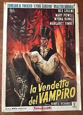 """manifesto,2F,LA VENDETTA DEL VAMPIRO,El Mundo de los vampiros,Tucker Horror,""""63"""