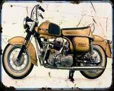 DUCATI Berliner Apollo A4 Metal Sign moto antigua añejada De