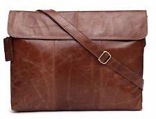 Designer Leather Mens  Ladies Crossover Shoulder Work Messenger Bag Laptop Case