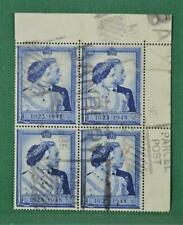 GB STAMPS 1948 SILVER WEDDING £1 BLOCK OF 4 USED  (J136)