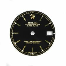 78240 Black With Gold Markers 24mm Rolex Oyster Perpetual Datejust Dial Fits