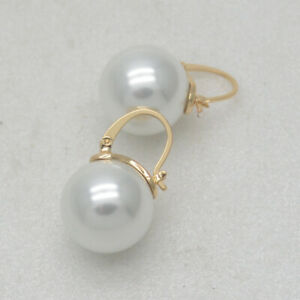 Kate spade jewelry elegant gold tone faux pearl pierced drop hoop dangle earring