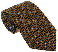 Roberto Cavalli ESZ041 01004 Golden Brown Micro Geometric Tie