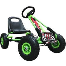 Kiddo Go-Kart Racer Design Childrens Kids Pedal Car - Green