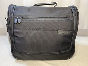 BRIGGS & RILEY Duffel Bag Carry On Tote Travel Luggage Black w/Shoulder Strap