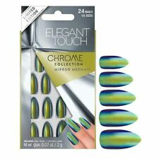 Elegant Touch False Nails - Chrome Collection Mirror Mermaid (24 Nails)