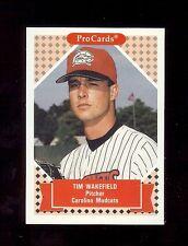 TIM WAKEFIELD  1991 ProCards - Carolina Mudcats - Minor League Baseball Card RC