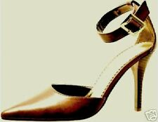 NEW GORGEOUS LGHT BROWN PUMPS SEXY ANKLESTRAP SHOES 7.5