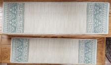"Rug Depot 13 European Border Non Slip Carpet Stair Treads 30"" x 9"" Ivory Wool"