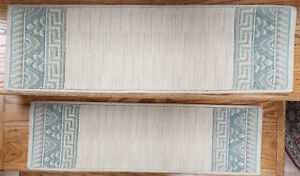 """Ivory Stair Treads by Rug Depot - Set of 7 Wool Non Slip Carpet Treads 30"""" x 9"""""""