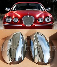 FAST EMS X2 CHROME Door Mirror Covers for JAGUAR S-TYPE 03-08 & X-Type 01-07