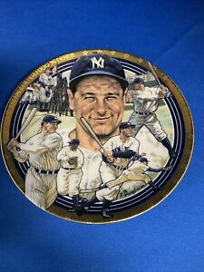 """Hamilton Collection """"The Legendary Lou Gehrig"""" Lou Gehrig Plate"""