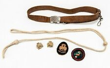 More details for antique/vintage 1940s girl guide promise badges, patches, belt & woggle set