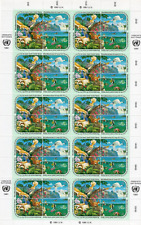 TIMBRES NATIONS UNIES - VIENNE - Année 1991 FEUILLE du n°118/121 NEUF**