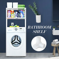 2 Shelf Over Toilet/Laundry Bathroom Metal Towel Storage Rack Holder Organizers