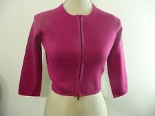 NARCISO RODRIGUEZ Pink Silk Blend Cardigan IT 40 US 2-4