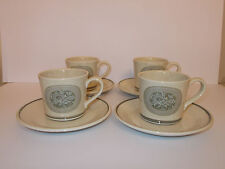 4 x Royal Doulton Lambethware Cups and Saucers EarthFlower Vintage Lovely