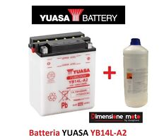Batteria YUASA YB14L-A2 12V 14Ah + Acido per Laverda 650 Sport dal 1995