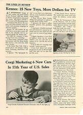 1968 PAPER AD 2 PG Article Corgi Toy Cars Lincoln Limousine James Bond Toyota