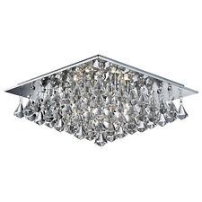 Hanna CROMATO 6 luci illuminazione soffitto il montaggio a casa con gocce di cristallo chiaro NUOVO
