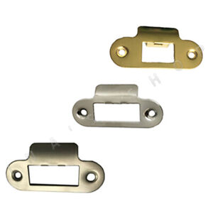 Strike Plate Round Short Satin Brass Polished Chrome for Mortice Latches/Locks