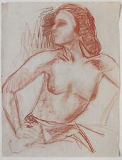 SUPERB Original 1930s Austrian artist, Art Deco nude,  large format