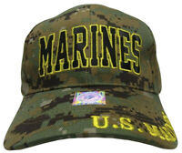 Marines Marine Corps EGA Marpat Camo Camouflage Gold Letter Embroidered Cap Hat