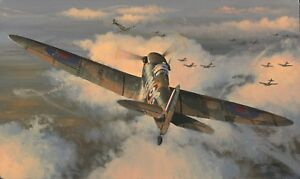 Limited Aviation Print Tally Ho by Philip E West (Spitfire)