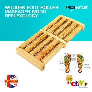 Wooden Foot Roller Massager Wood Reflexology Relax Relief Spa Care UK D13