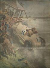 K0724 La vettura di Rosenberger va a battere contro cabina - Stampa antica