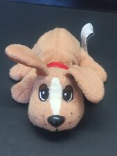 """Vintage 1986 Brown And White Pound Puppies Puppy Plush Toy 6.5"""" Collectible"""