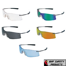 MCR CREWS RUBICON SAFETY GLASSES SUNGLASSES METAL FRAME RUBBER NOSEPIECE 1 PAIR