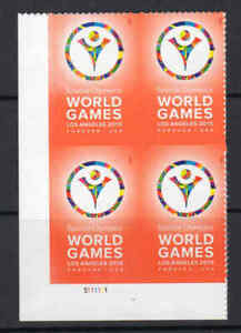 4986 Special Olympics World Games Forever Stamp Plate Block MNH