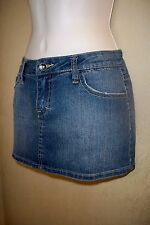 mixed lot 5 Denim jean skirt shorts leather ties lei union bay ymi zana W 7 NWT