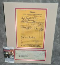 Jimi Hendrix Matted Leo Fender Signed 1970 Check w/ Repro Receipt JSA