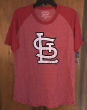NWT Men's MLB St. Louis Cardinals T-Shirt By Majestic Threads. Sz Medium & Red.