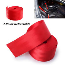 Universal Retractable Seat Belt 3 Point Auto Car Lap Adjustable Belt 3.6M 48mm
