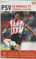 Programma / Programme PSV Eindhoven v AS Monaco FC 17-9-2003 UEFA CL