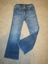 Girls' Age 6 7 for All Mankind BOOTCUT jeans BLUE NYD New York Dark Kids little