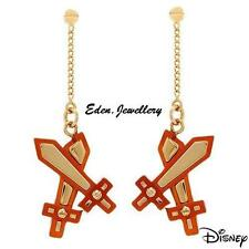 SALE Disney Couture Pirate of Caribbean Sword Gold Plated Earrings See Necklace