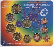 Spain 2007 coin set BU 2 euro Rome / Spanien KMS España Cartera Espagne Roma
