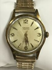 Vintage Mens Gruen Precision 17 Jewels N 510 Gold Plate Watch